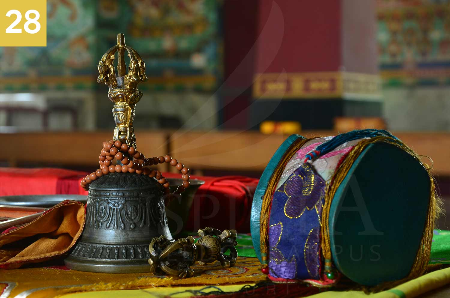 beautiful bell of rangapani monastery, darjeeling district, west bengal