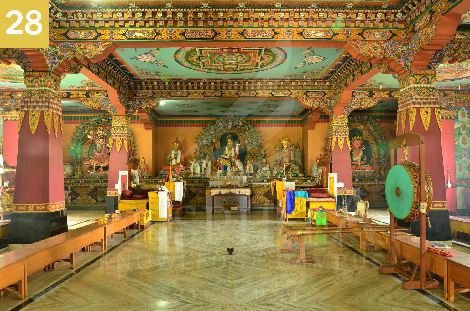 inside view of rangapani monastery, darjeeling district, west bengal