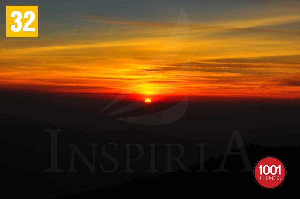 Beautiful sunrise at Tiger Hill