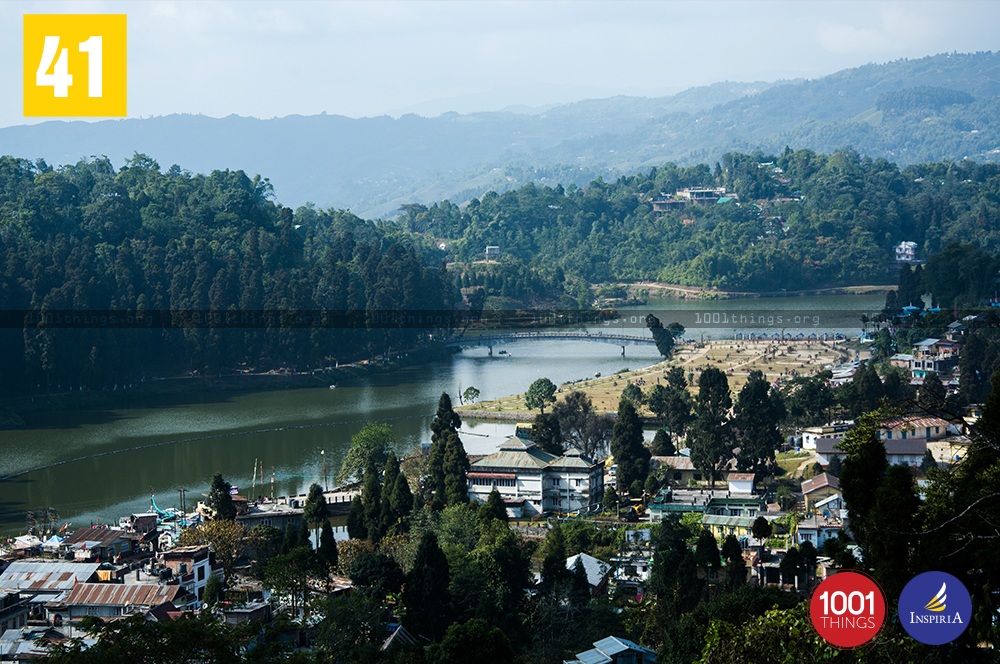 Aerial View of Mirik Lake, Darjeeling