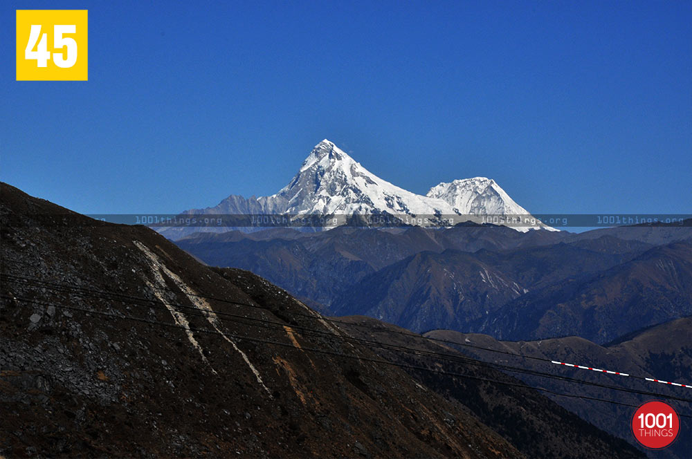 Chinese side peaks at Nathu La Border, Sikkim