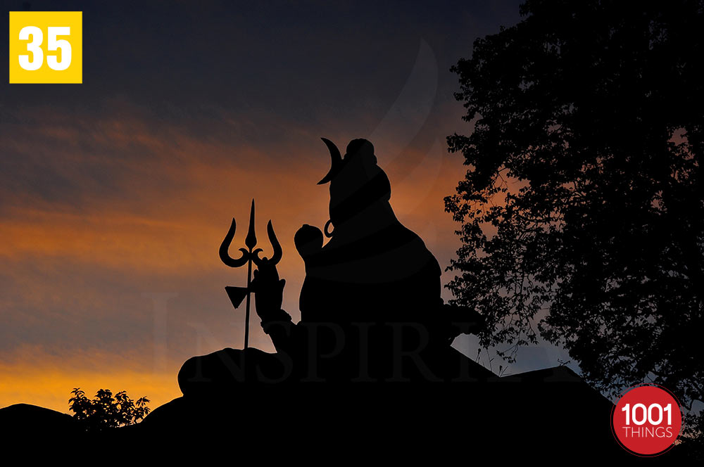 Lord Shiva Statue at Shrubbery Nightingale Park, Darjeeling