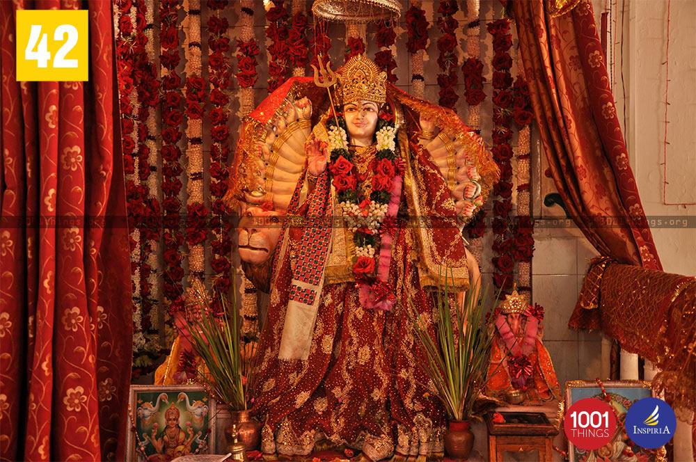 Maa Durga statue at Dhirdham Temple, Darjeeling