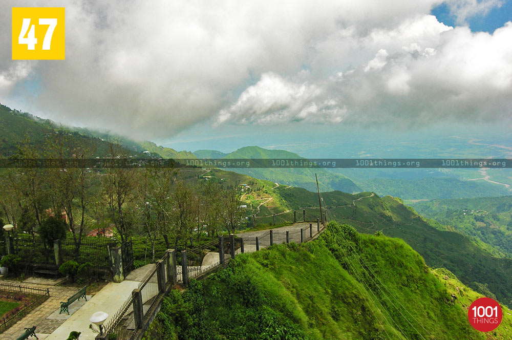 Majestic view of Eagle's Crag, Kurseong