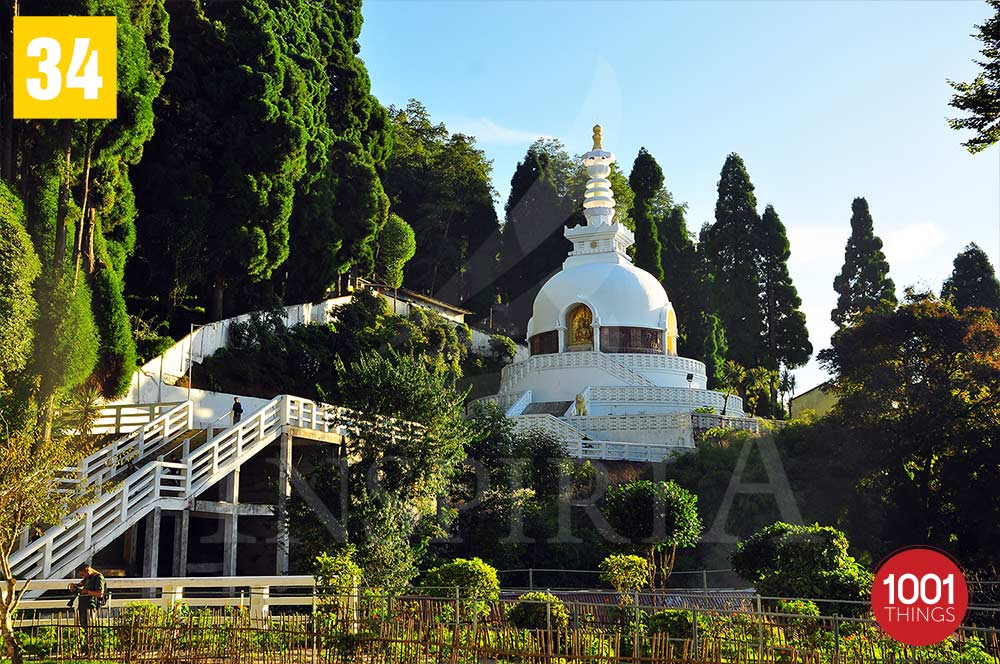 Peace Pagoda view from Japanese-Darjeeling