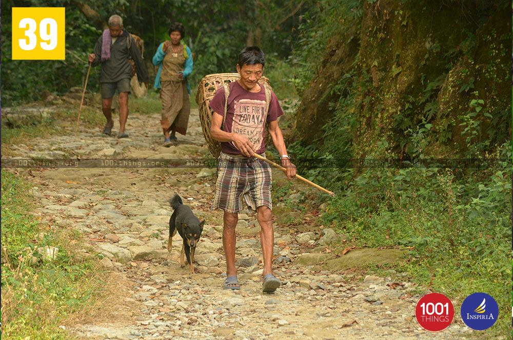People at Buxa Tiger Reserve, Dooars, West Bengal.
