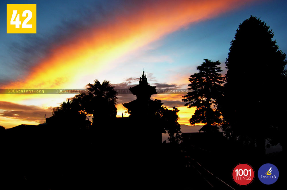 Sunset at Dhirdham Temple, Darjeeling
