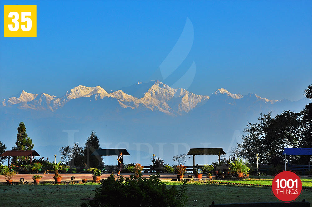 View of Mt. kanchenjunga from Shrubbery Nightingale Park, Darjeeling