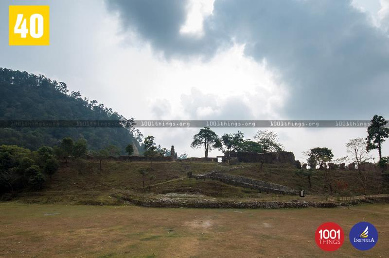 Wide view of Buxa Fort, Dooars.