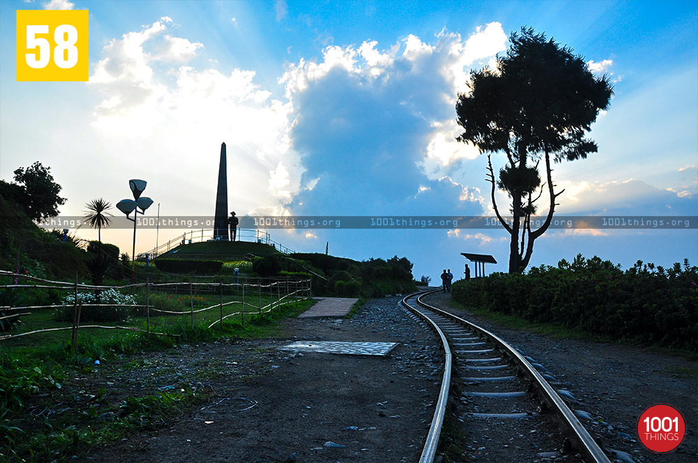 Railway track at Batasia Loop, Darjeeling
