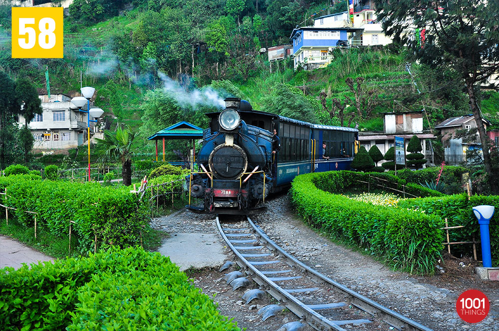 Toy Train at Batasia Loop, Darjeeling