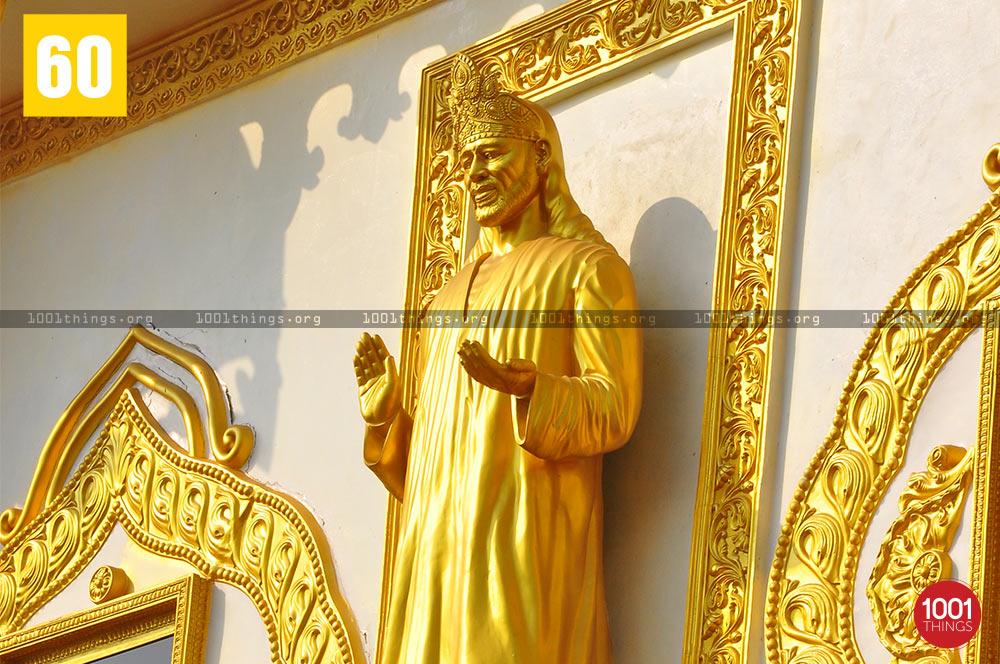 Golden statue of Sri Shirdi Sai Baba, Namchi