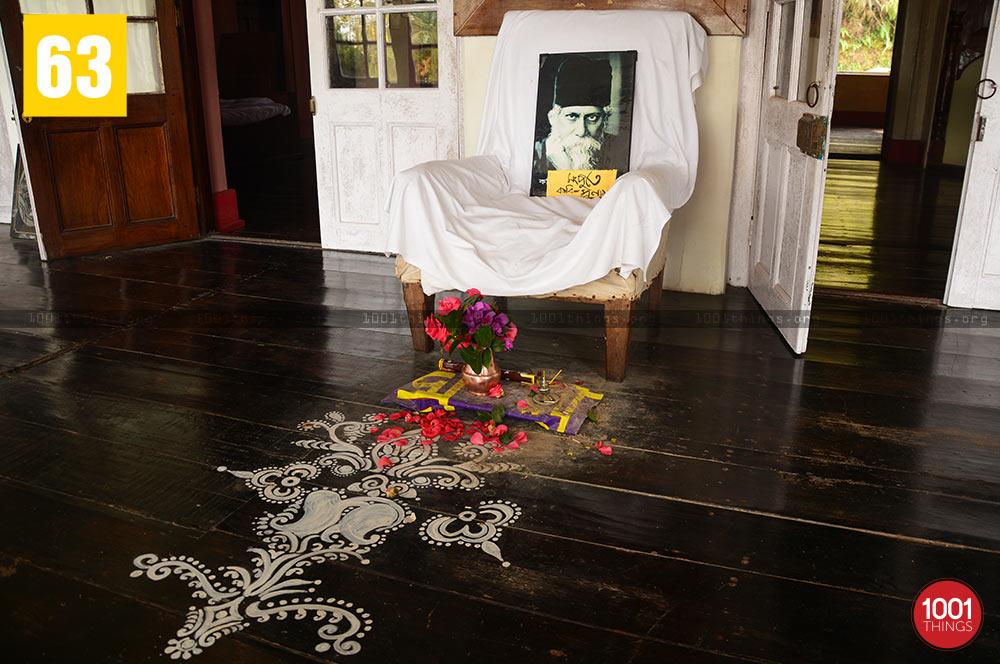 Rabindranath Tagore's Chair at Mungpoo