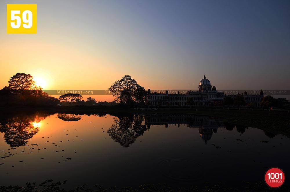 Sunset at Rajbari, Cooch Behar.