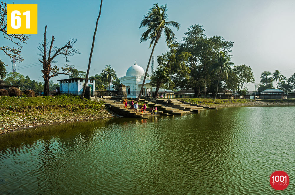 The holy lake at Jalpesh Temple, Jalpaiguri