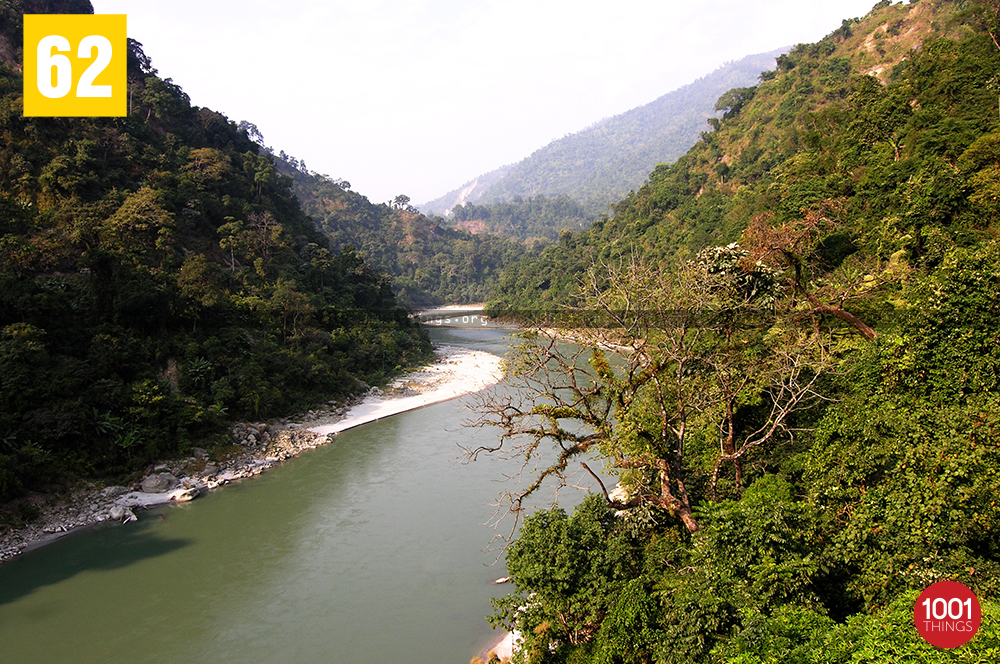 Top view of Teesta River
