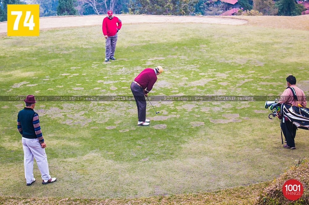 Army personnel at Army Golf Course, Kalimpong