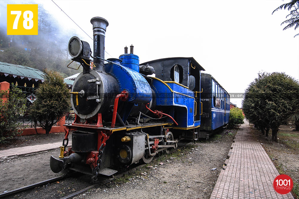 Baby Sivok at Ghum Railway Station, Darjeeling