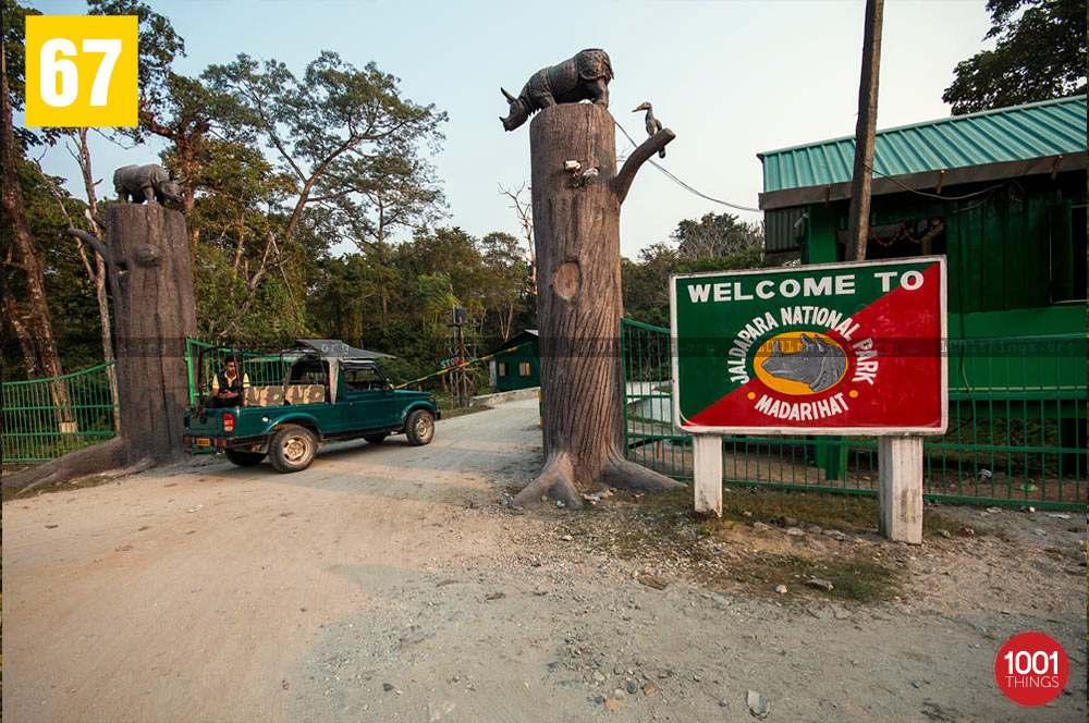Entrance of Jaldapara National Park, Dooars