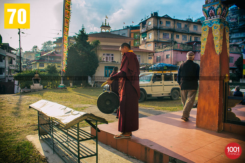 Evening prayer bell at Tsonga Gumba, Kalimpong