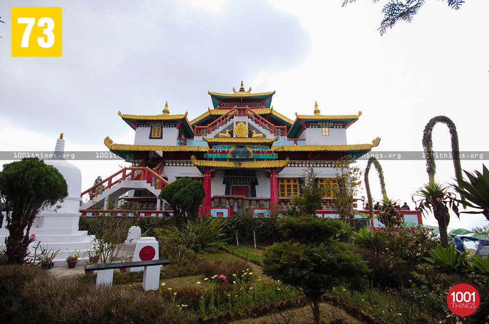 Front view of Zang Dhok Palri Phodang, Kalimpong
