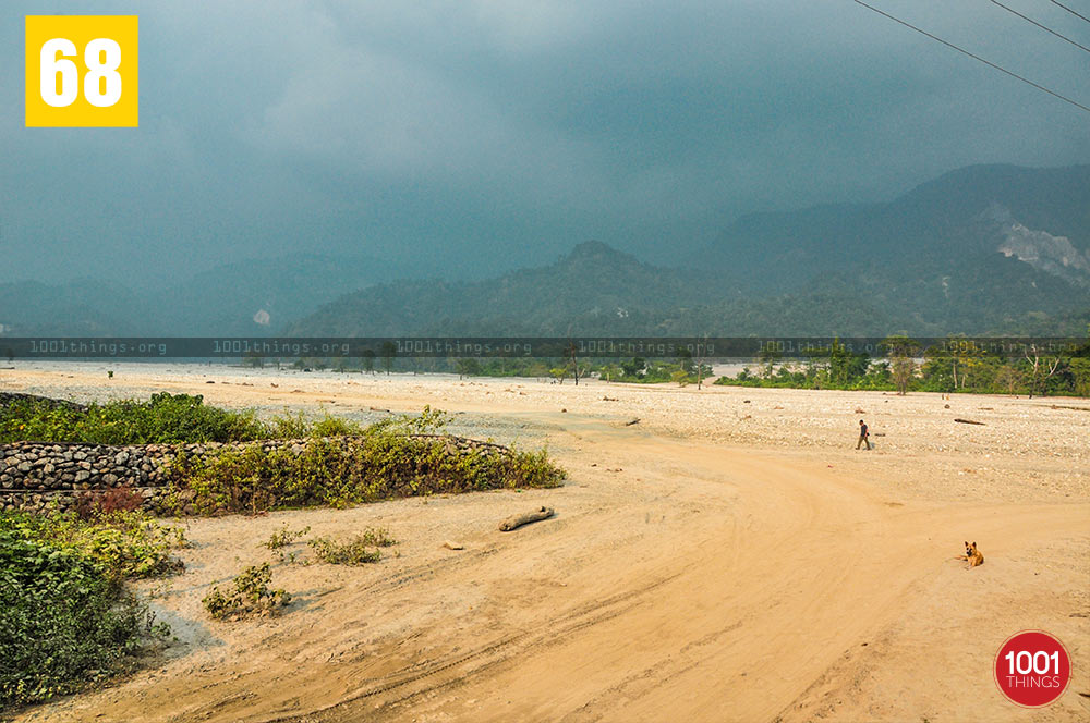 Jayanti River dry bed