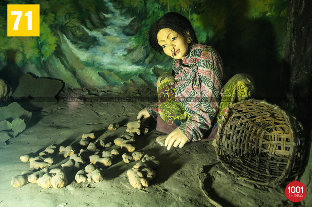 Miniature clay models at Nature Interpretation Centre, Kalimpong