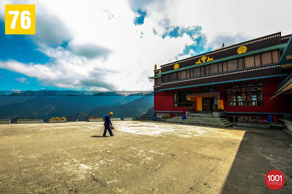 Open space at Lava Monastery, Lava