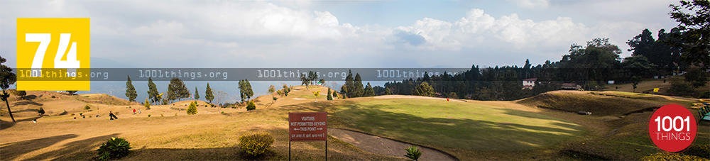 Panorama view of Army Golf Course, Kalimpong