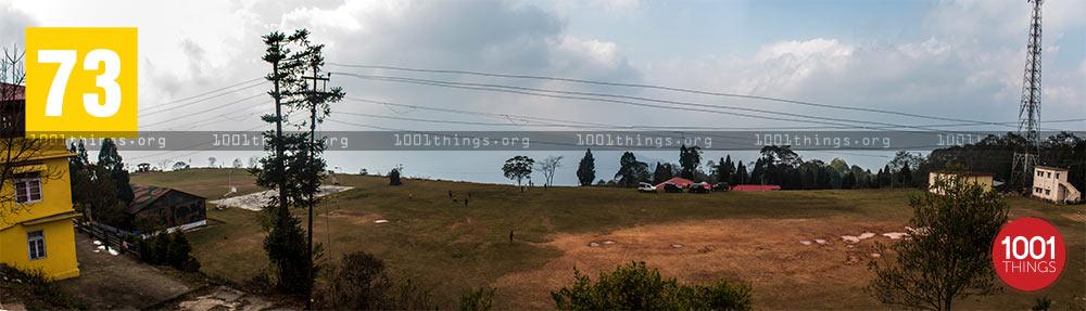 Panorama view of school ground at Zang Dhok Palri Phodang, Kalimpong