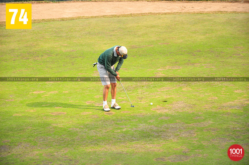 Player at Army Golf Course, Kalimpong