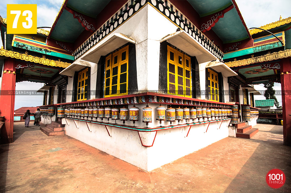 Prayer wheels at Zang Dhok Palri Phodang, Kalimpong