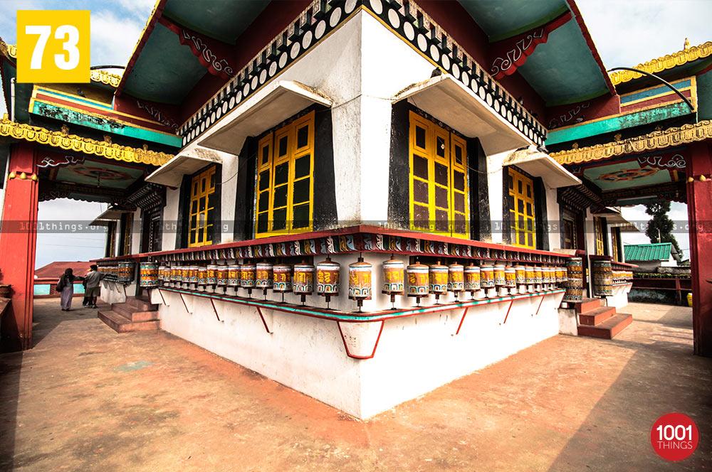 Prayer wheels at Zang Dhok Palri Phodang, Kalimpong