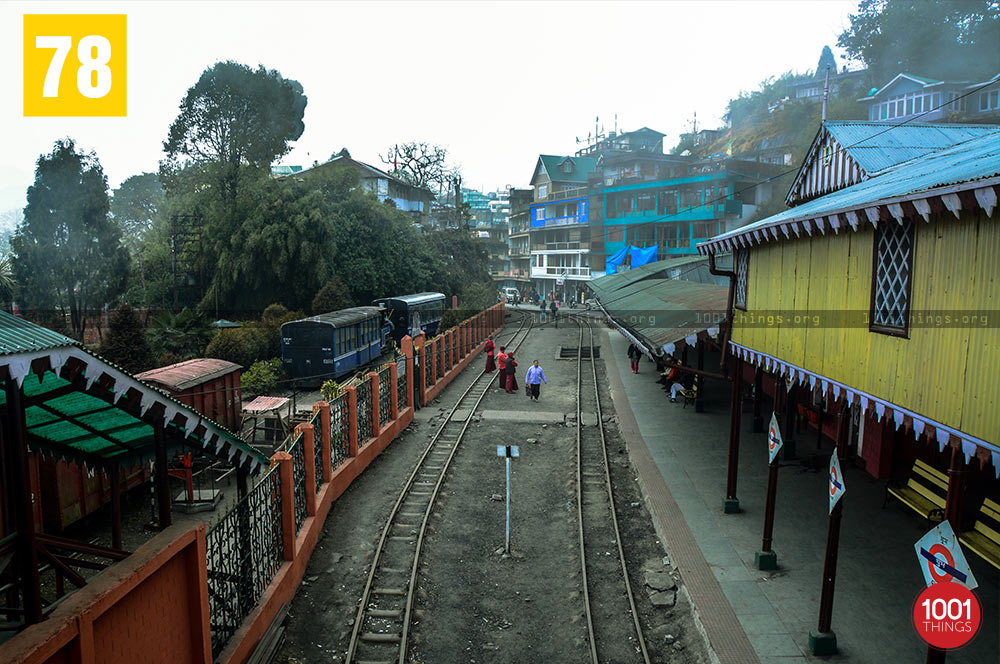 Railway tracks of Ghum Railway Station, Darjeeling