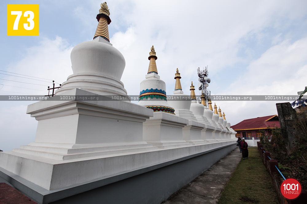 Shrines at Zang Dhok Palri Phodang, Kalimpong