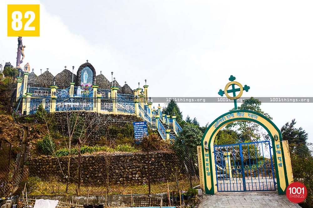 Grotto entrance at Sonada, Darjeeling