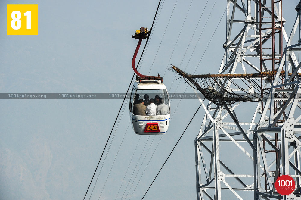 People travelling in Darjeeling Ropeway