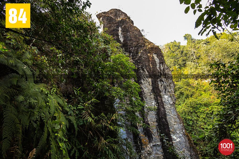 Bottom view of Tenzing and Gombu Rocks, Darjeeling