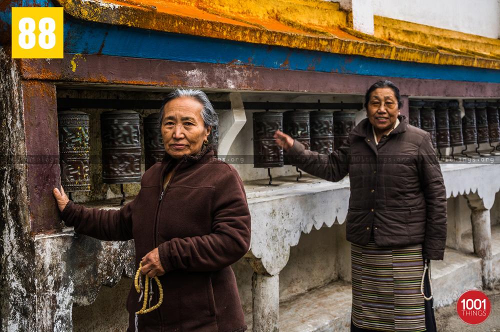 Buddhists at Yiga Choeling Monastery, Ghoom, Darjeeling