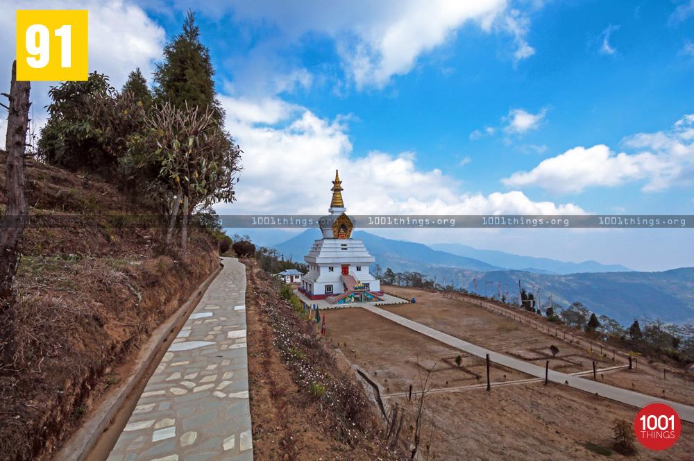 Chorten at Great Stupa Ugyen Mindrolling Samten, Lava, Kalimpong