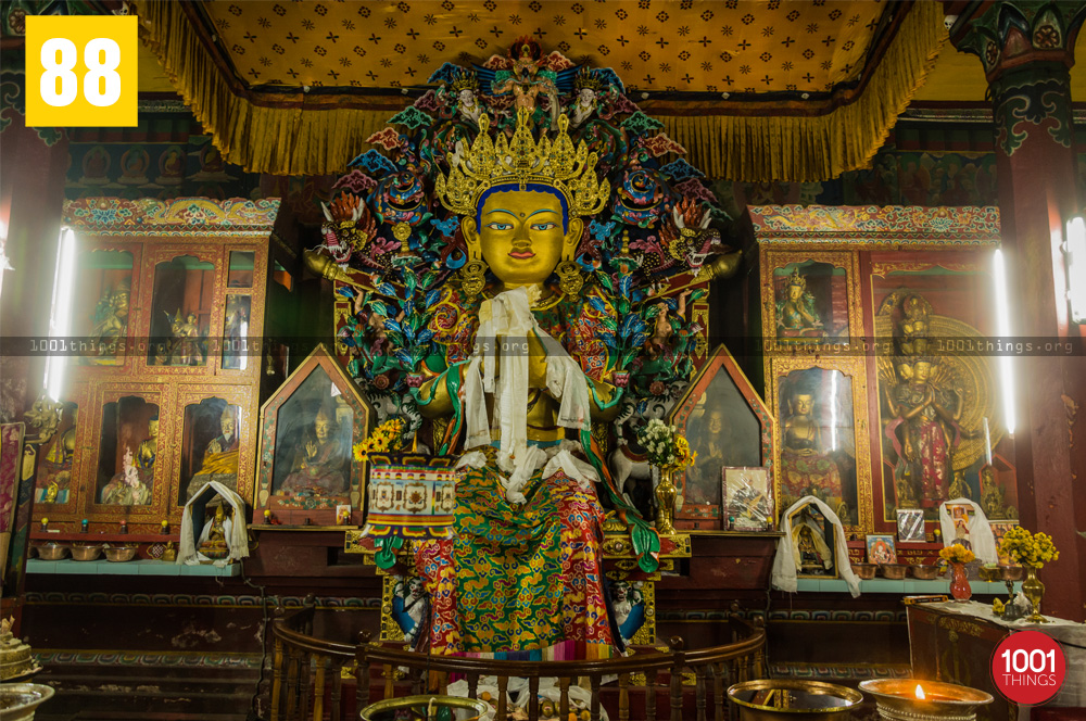 Idol at Yiga Choeling Monastery, Ghoom, Darjeeling