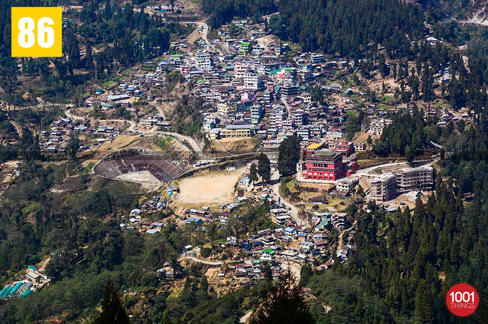 Lava bazar from Rachela Pass, Lava, Kalimpong