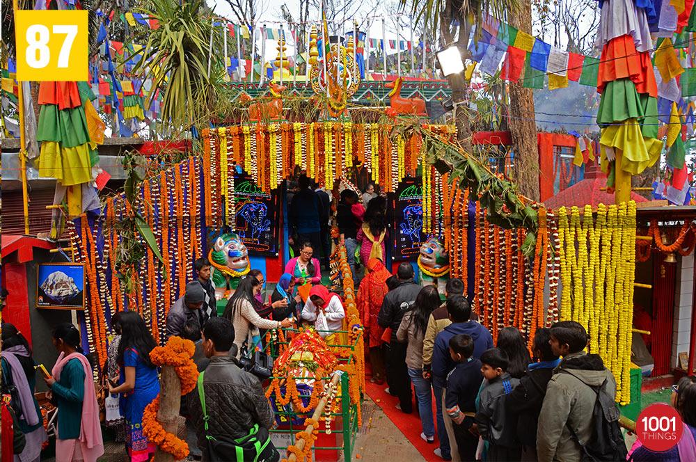 Mahakal Mandir during Shivratri, Darjeeling