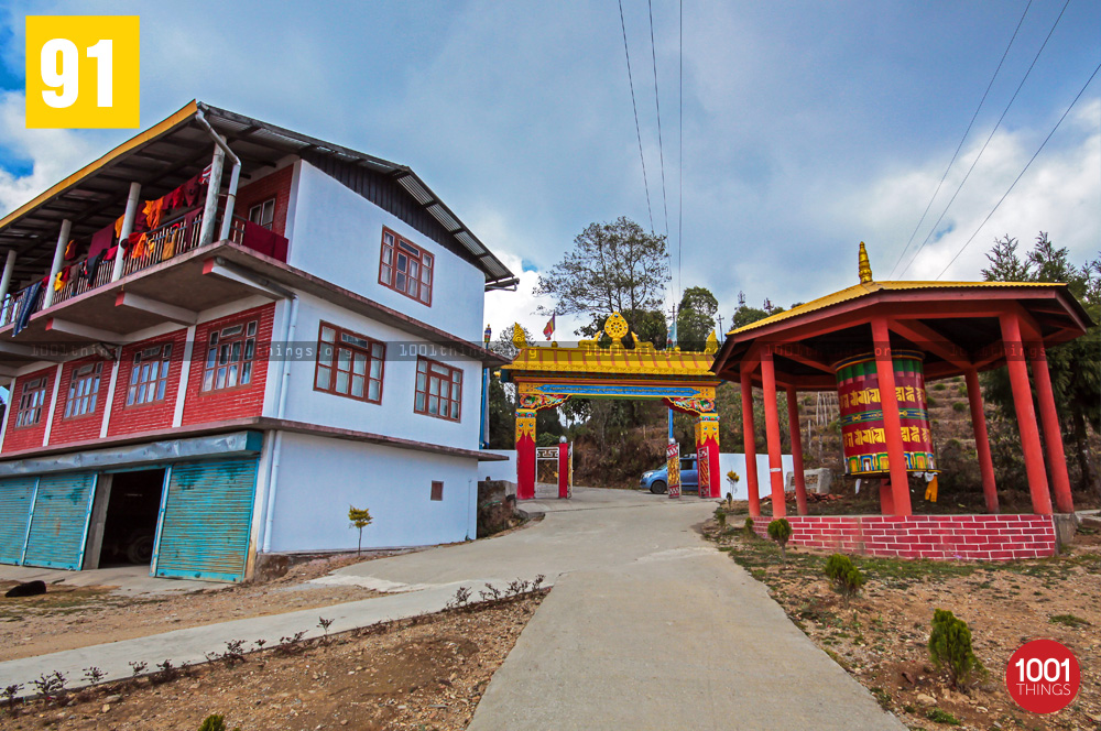 Main Entrance at Great Stupa Ugyen Mindrolling Samten, Lava, Kalimpong