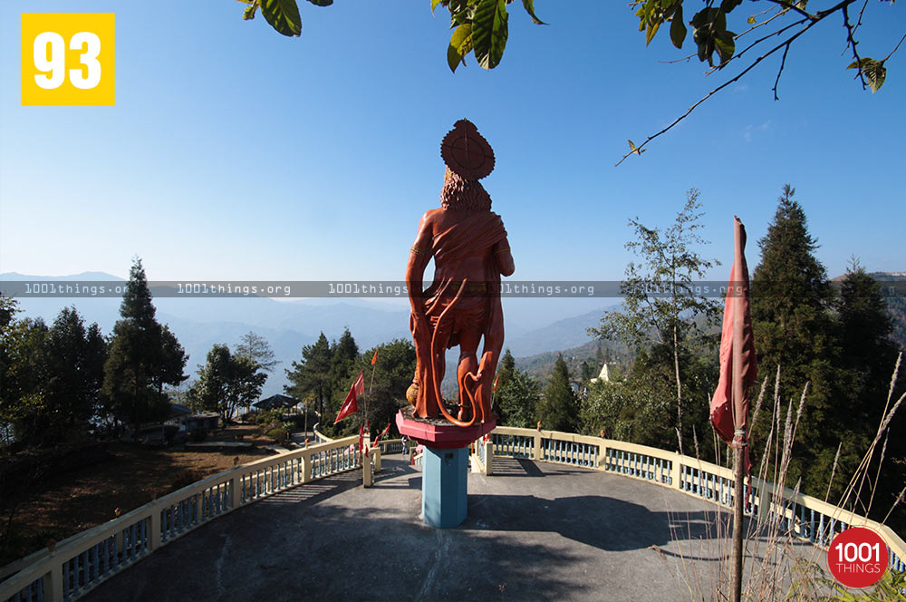 Rear view of Hanuman Tok, Kalimpong