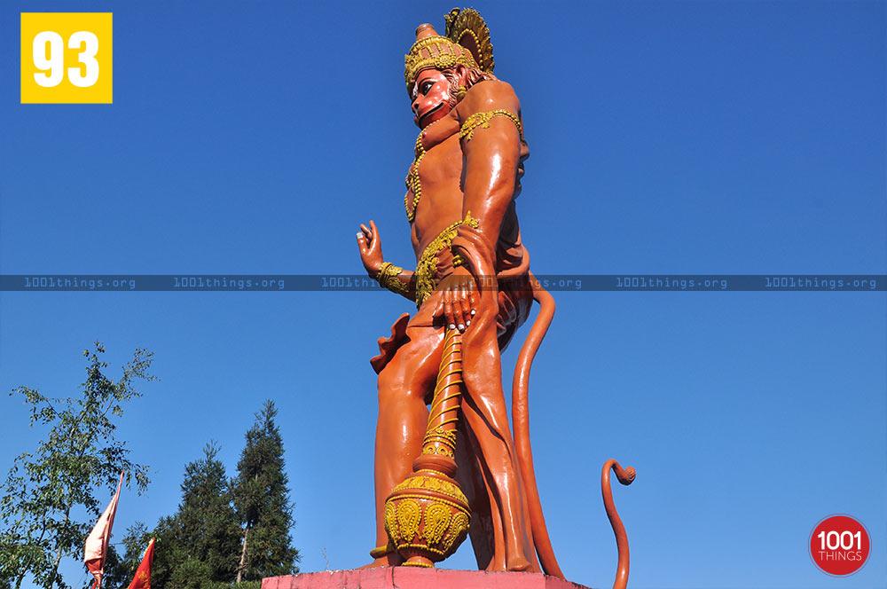 Side view of Hanuman Tok, Kalimpong