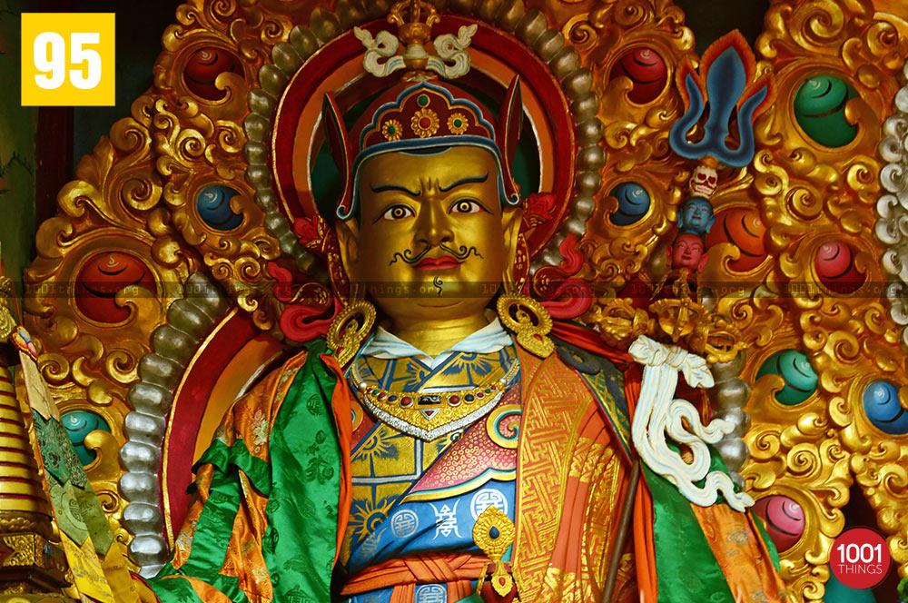 Guru Padmasambhava idol at samtse monastery