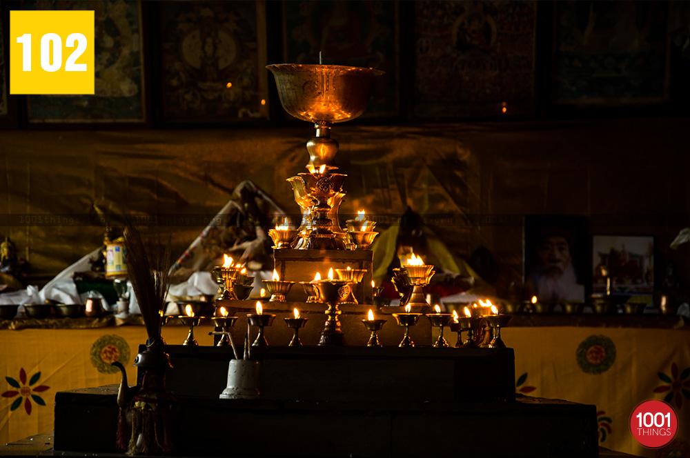 Lamps at Khecheopalri Lake Sikkim