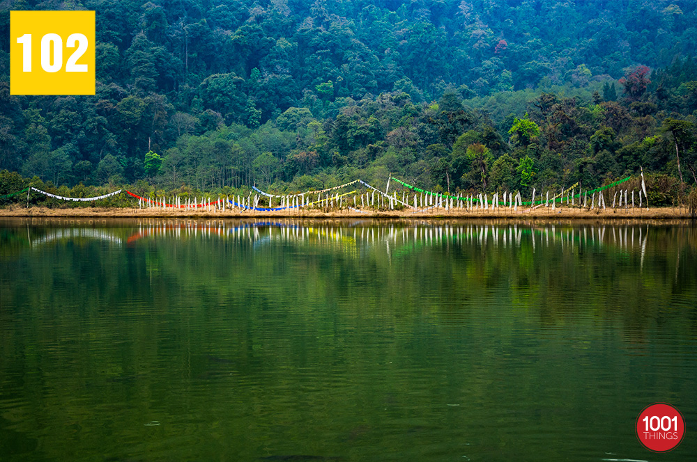 Landscape at Khecheopalri Lake Sikkim