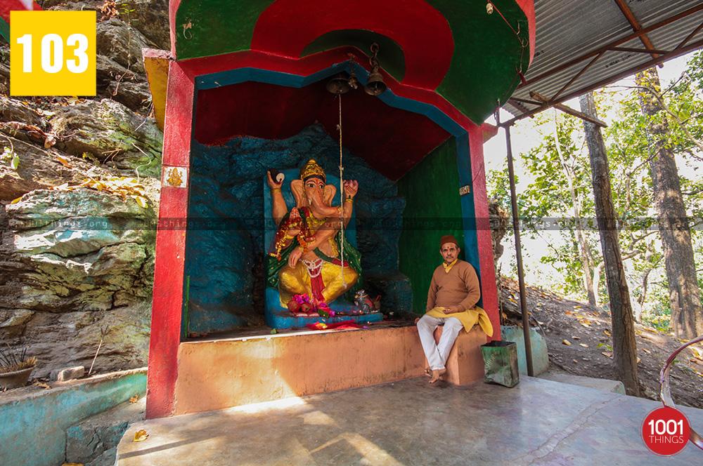 Lord Ganesha idol at 3rd Mile Mandir, Kalimpong
